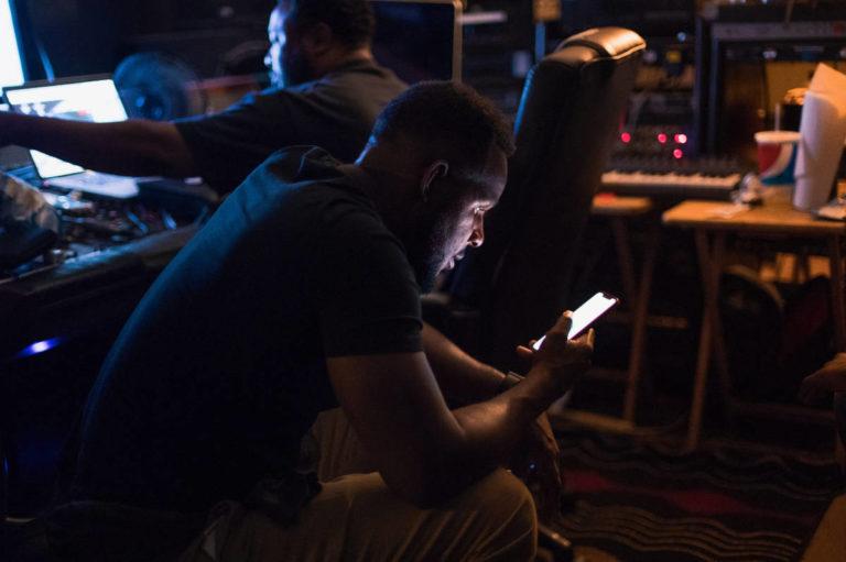 Elijah in the studio